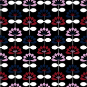 Abstract Floral - Navy & Orchid