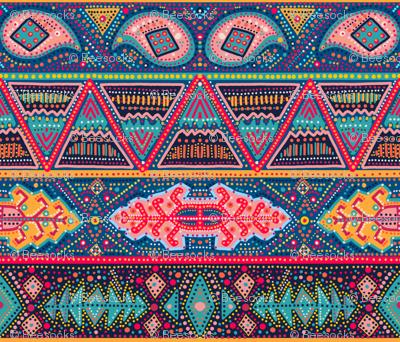 kilim inspired ribbon stripe