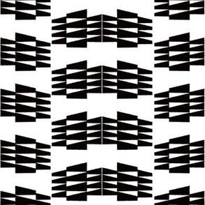 Tribal Triangle Kilim in Black + White