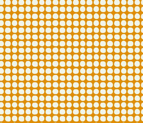Orange Lattice fabric by collectedhandstextiles on Spoonflower - custom fabric