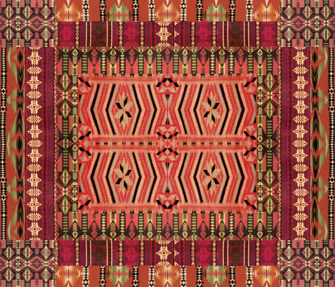 kilim me softly fabric by hypersphere on Spoonflower - custom fabric