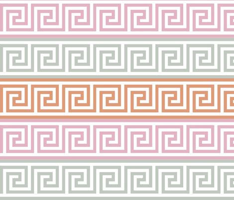 Greek Key - Spring fabric by owlandchickadee on Spoonflower - custom fabric