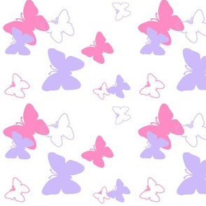 Butterfly Hot Pink Purple Lavender