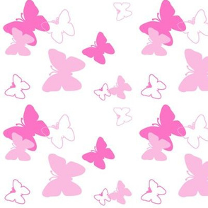 Butterfly Pink Hot Baby Pastel
