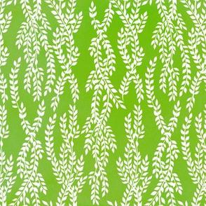 White Vine on Green