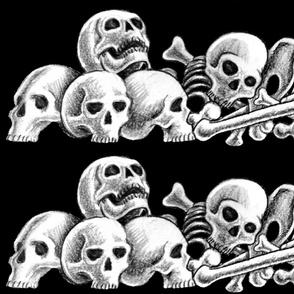 bones  on black