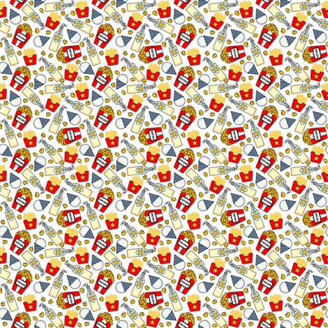 Circus snacks on white Extra Small fabric by sylviaoh on Spoonflower - custom fabric