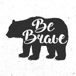Be Brave Bear Minky Blanket