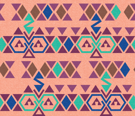 Kilim-Textured fabric by radgedesign on Spoonflower - custom fabric