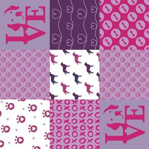 Whole Cloth Patchwork Labrador Violet Dogs
