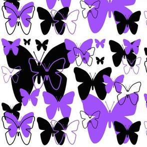 Butterfly Purple Black