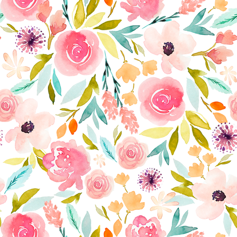 Indy Bloom Design Sage Spring C fabric by indybloomdesign on Spoonflower - custom fabric