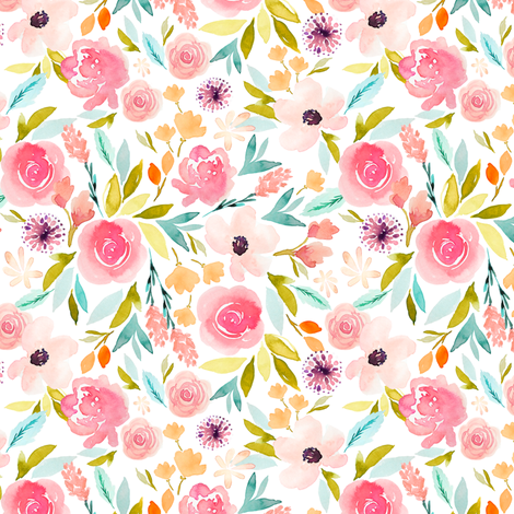 Indy Bloom Design Sage Spring B fabric by indybloomdesign on Spoonflower - custom fabric