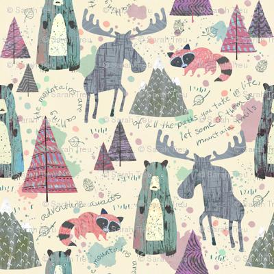 Sherbet Forest (Mini Size) -Mountain Animals