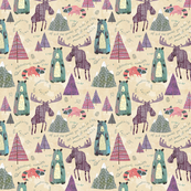 Sherbet Forest (Mini Size) -Mountain Animals