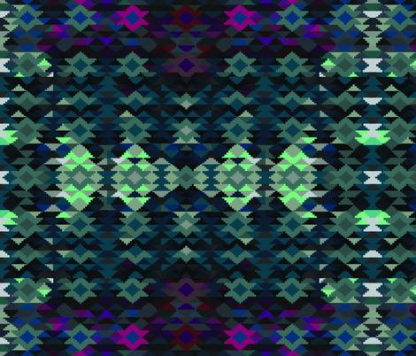 Aqua Kilim fabric by jatowle on Spoonflower - custom fabric
