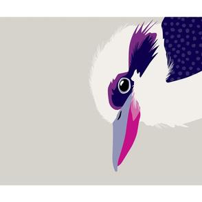 Kookaburra tea towel
