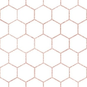 Rose gold hexagon, honeycomb, kitchen, bathroom tiles