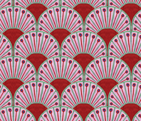 Art Deco Peacock Fan fabric by tishyaoedit on Spoonflower - custom fabric