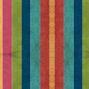 Beach Stripes VINTAGE 105 vertical -lagoon tropics