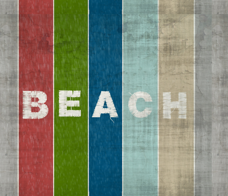 Beach stripes - Driftwood 1951 BEACH Lake fabric by drapestudio on Spoonflower - custom fabric