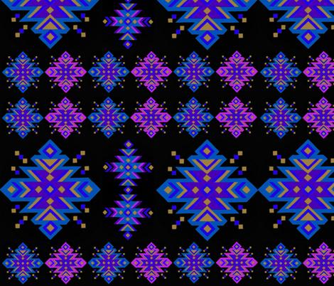 Kilim Night fabric by heckadoodledo on Spoonflower - custom fabric