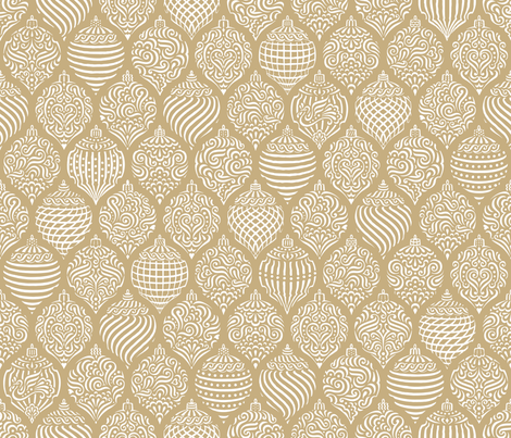 ornateornaments-gold fabric by dyessdesign on Spoonflower - custom fabric