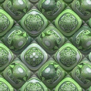 GREEN AGATHE OPAL PYRAMIDS 2 GEMS STONES