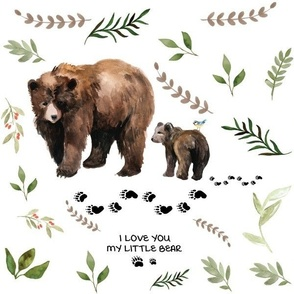 Mama and Baby Bear Greenery