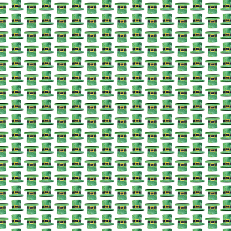 (micro scale) Leprechaun hats - St Patricks day fabric - hats  fabric by littlearrowdesign on Spoonflower - custom fabric