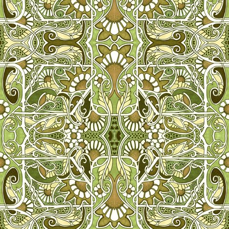 Twisted Meadow fabric by edsel2084 on Spoonflower - custom fabric