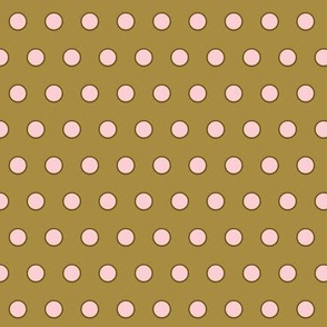 Fairytale-Brown/Pink  Polka-Dots