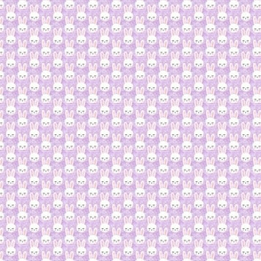 (micro print) bunnies on purple (sleepy bunny)