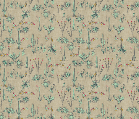 SCOUT DESERT CACTUS fabric by pattern_state on Spoonflower - custom fabric