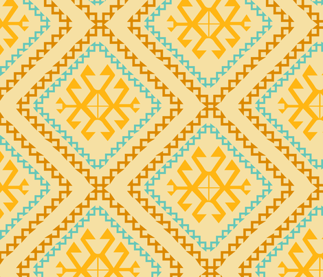 kilim jaune sissi-tagg fabric by sissi-tagg on Spoonflower - custom fabric