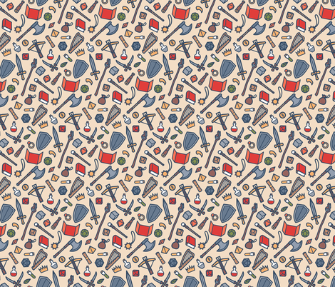 Dungeon Master fabric by paolaspixels on Spoonflower - custom fabric