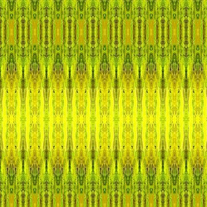 FEATHER STRIPE Green Gold