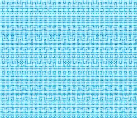 Meandering Greek Tile in Pool Blues fabric by elramsay on Spoonflower - custom fabric
