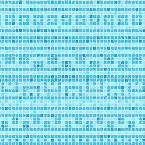 Meandering Greek Tile in Pool Blues
