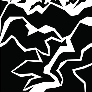 Mountain Peaks - large print
