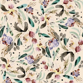 autumn abstract floral antique peach