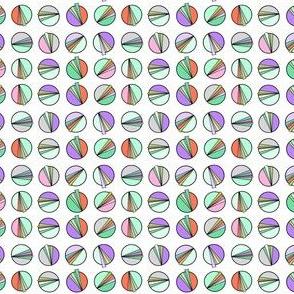 Geometric Space Clocks White