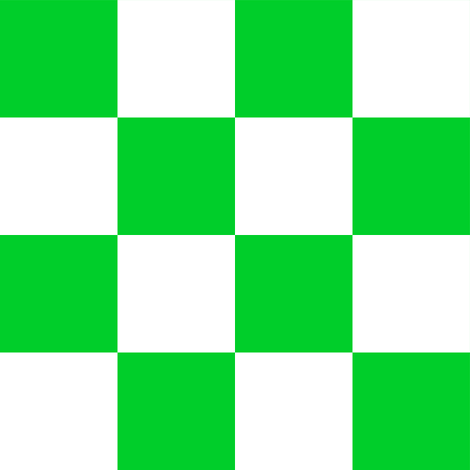 Two Inch Vivid Racing Green and White Checkerboard Squares fabric by mtothefifthpower on Spoonflower - custom fabric