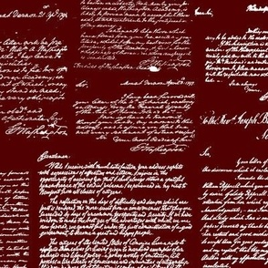 Letters of George Washington // Burgundy