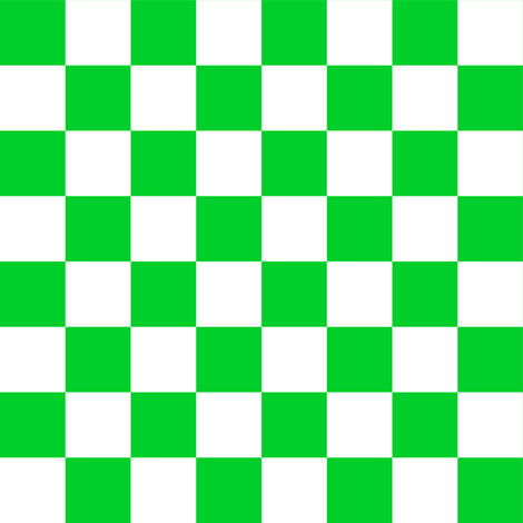 One Inch Vivid Racing Green and White Checkerboard Squares fabric by mtothefifthpower on Spoonflower - custom fabric