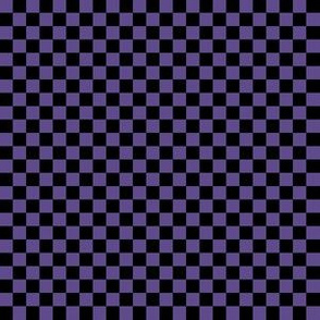 Quarter Inch Ultra Violet Purple and Black Checkerboard Squares