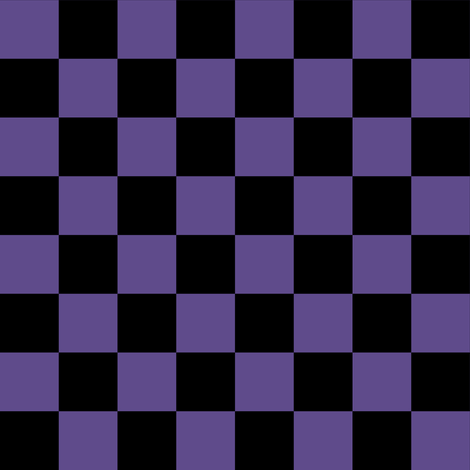 One Inch Ultra Violet Purple and Black Checkerboard Squares fabric by mtothefifthpower on Spoonflower - custom fabric