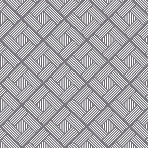 Intersected squares pattern
