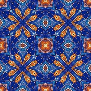 Persian Blue and Orange Stars