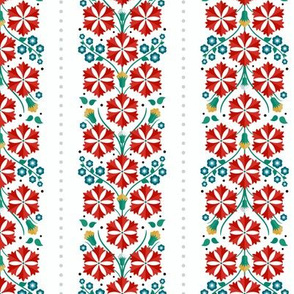 Floral folk pattern of spring flowers